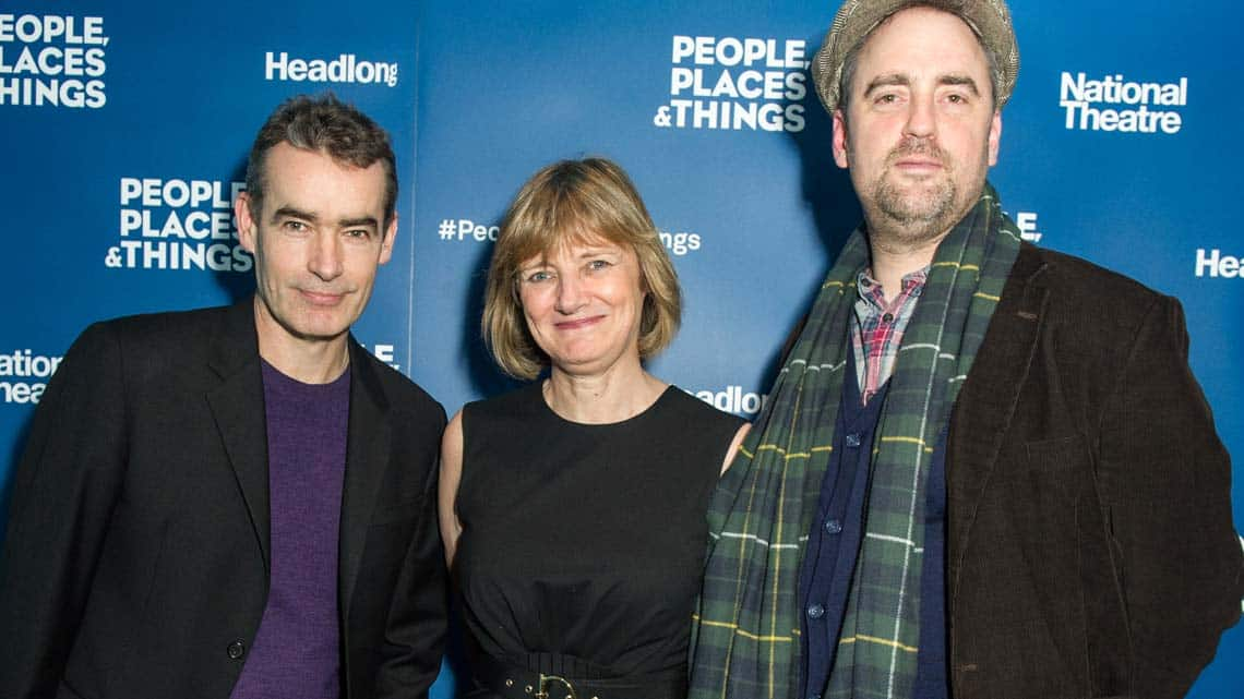 Rufus Norris, Lisa Burger and Jeremy Herrin at People, Places & Things | Wyndham's Theatre | Photo: Craig Sugden | Harvey Keitel attends opening night of People, Places & Things