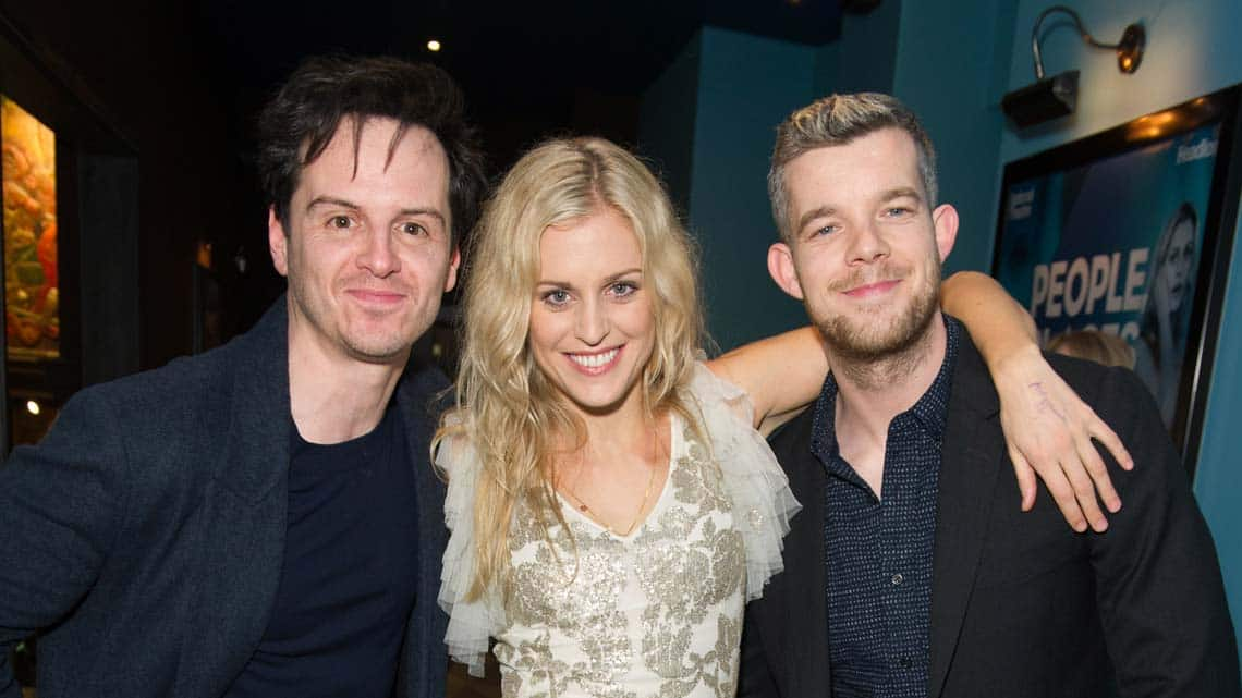 Andrew Scott, Denise Gough (Emma) and Russell Tovey at People, Places & Things | Wyndham's Theatre | Photo: Craig Sugden | Harvey Keitel attends opening night of People, Places & Things