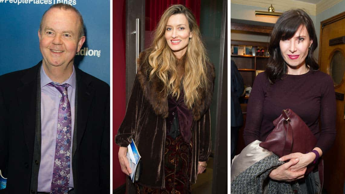 Ian Hislop, Natascha Mcelhone & Ronnie Ancona at People, Places & Things | Wyndham's Theatre | Photo: Craig Sugden | Harvey Keitel attends opening night of People, Places & Things