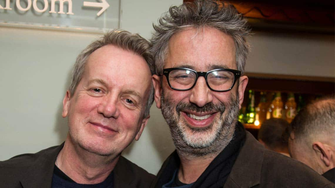 Frank Skinner and David Baddiel at People, Places & Things | Wyndham's Theatre | Photo: Craig Sugden | Harvey Keitel attends opening night of People, Places & Things