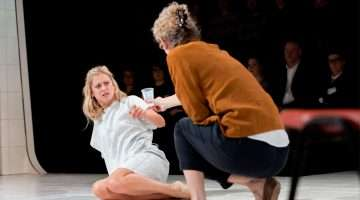 Barbara Marten  & Denise Gough in People, Places & Things   Photo: JohanPersson
