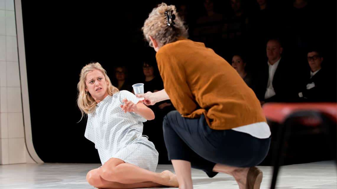 Barbara Marten  & Denise Gough in People, Places & Things | Photo: JohanPersson | Reviews round-up: People, Places & Things at the Wyndham's Theatre
