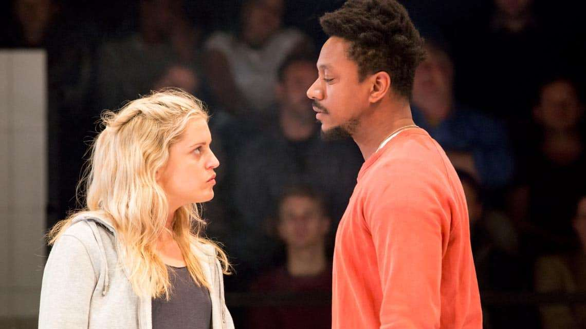 Denise Gough (Emma), Nathaniel Martello-White (Mark) in People, Places & Things   Photo: JohanPersson   In Pictures:  People, Places & Things