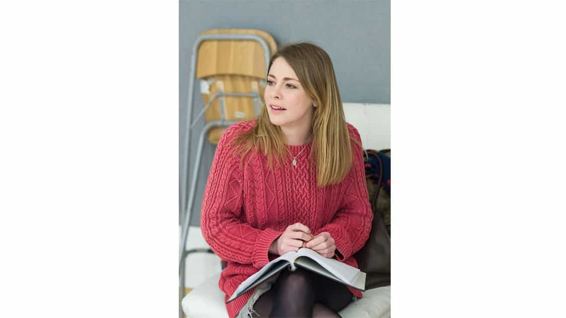 Lauren O'Neil (Steph) in Reasons to be Happy at Hampstead Theatre. Photos by Manuel Harlan. | In rehearsal – Reasons To Be Happy at Hampstead Theatre