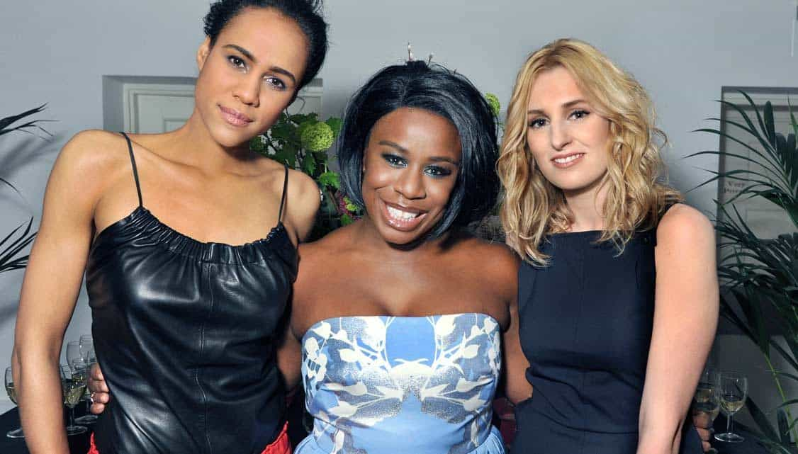 Zawe Ashton, Uzo Aduba and Laura Carmichael at The Maids opening nigh