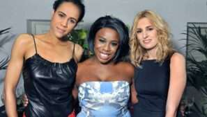 Zawe Ashton, Uzo Aduba and Laura Carmichael at The Maids opening nigh