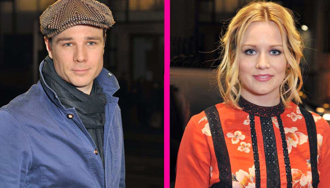 Rupert Evans and Cara Theobold at The Maids opening night   Photo: Paul Clapp   Kit Harington & Elizabeth McGovern among guests at The Maids first night