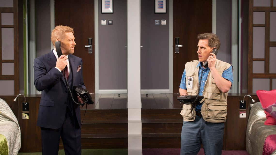 Kenneth Branagh, Rob Brydon | The Painkiller | Garrick Theatre | Credit Johan Persson | In Pictures: The Painkiller starring Rob Brydon & Kenneth Branagh