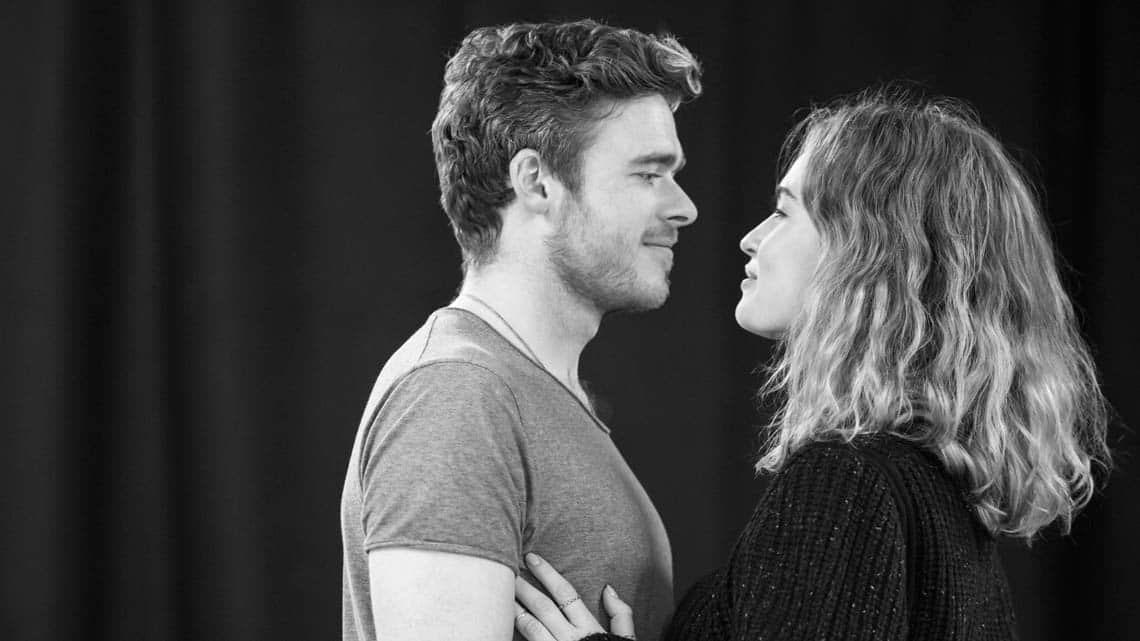 Romeo and Juliet (Kenneth Branagh Theatre Company) - Richard Madden (Romeo), Lily James (Juliet) Credit Johan Persso | In pictures: Romeo and Juliet rehearsal