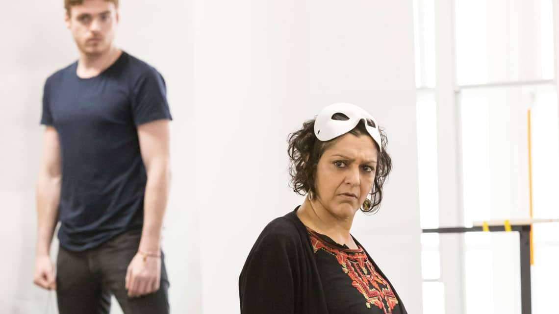 Romeo and Juliet (Kenneth Branagh Theatre Company) - Meera Syal (The Nurse), Richard Madden (Romeo) Credit Johan Persson  | In pictures: Romeo and Juliet rehearsal