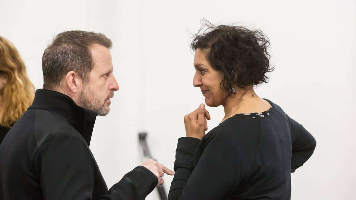 Romeo and Juliet (Kenneth Branagh Theatre Company) - Rob Ashford, Meera Syal (The Nurse) Credit Johan Persson | In pictures: Romeo and Juliet rehearsal