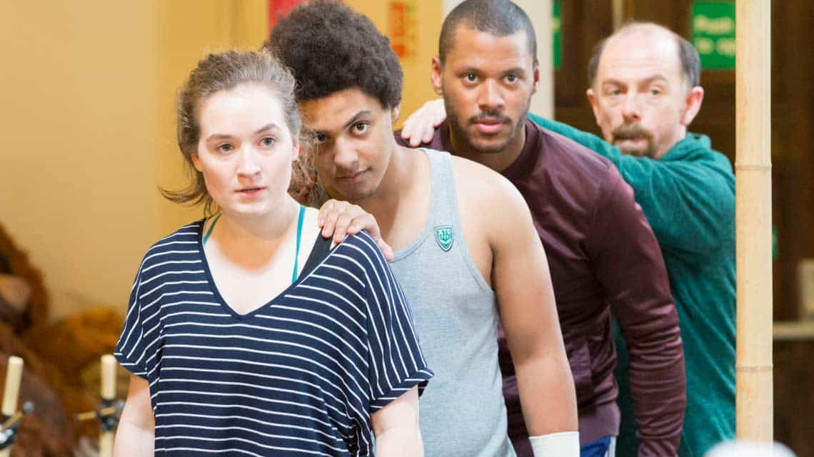 Romina Hytten, Fred Davis, Ira Mandela Siobhan and Stephen Ventura. Photo Johan Persson | First Look: Running Wild in rehearsal
