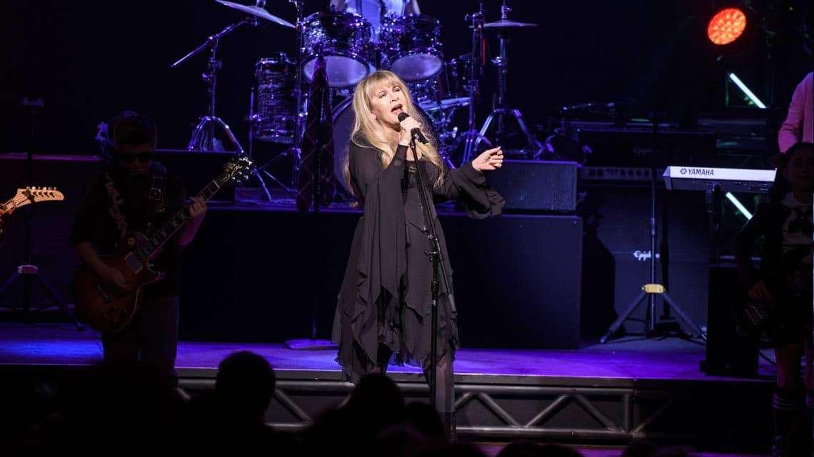 | Fleetwood Mac's Stevie Nicks performs at Broadway's School of Rock