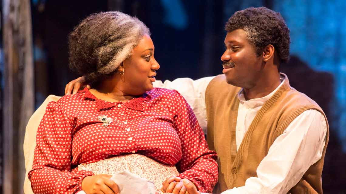 Sandra Marvin (Queenie) and Emmanuel Kojo (Joe) in Show Boat. Photo credit Johan Persson | First Look: Show Boat at the New London Theatre