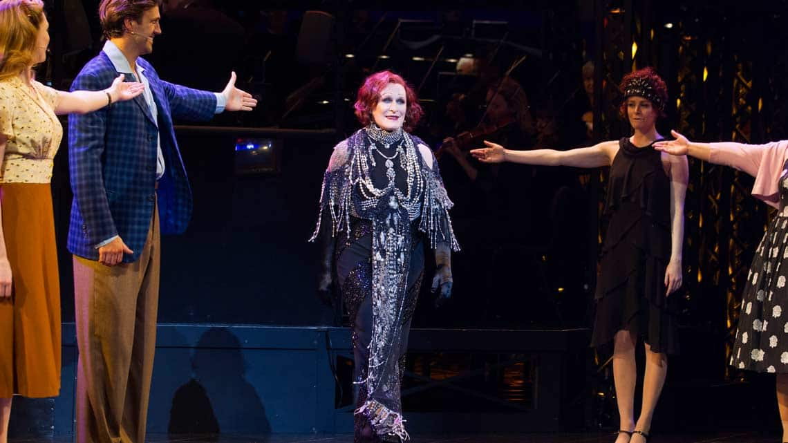 Glenn Close (Norma Desmond) during the curtain call at the opening night of Sunset Boulevard. Photo credit Dan Wooller