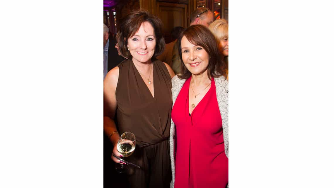 Jacquie Brunjes and Arlene Phillips at the opening night of Sunset Boulevard. Photo credit Dan Wooller
