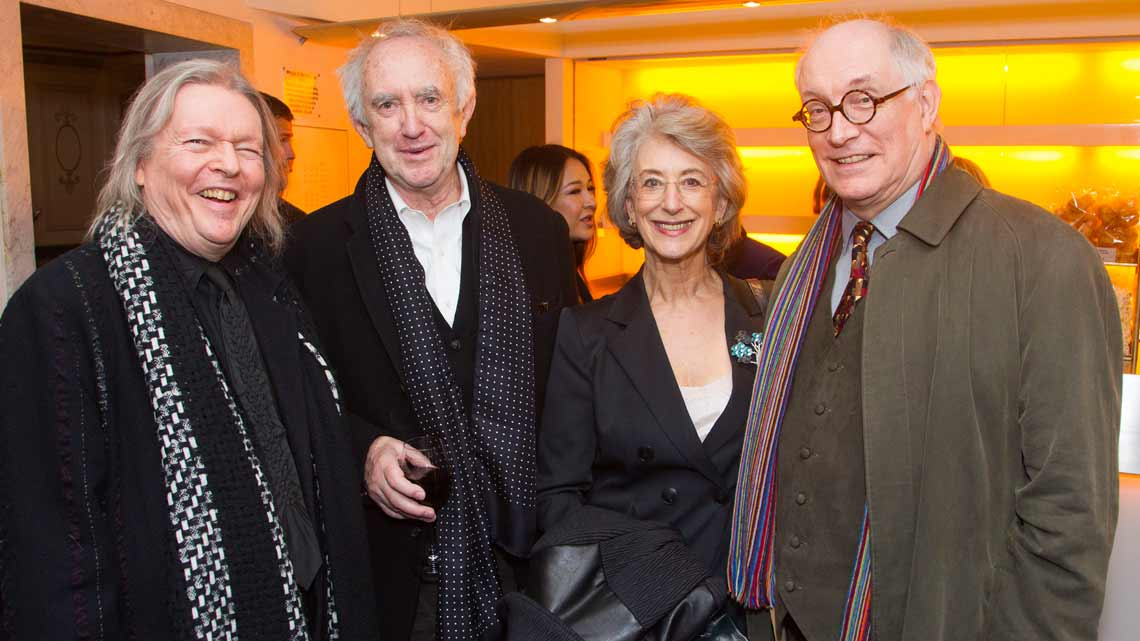 Christopher Hampton, Jonathan Pryce, Maureen Lipman and Simon Jones  at the opening night of Sunset Boulevard. Photo credit Dan Wooller | In Pictures: First Night of Sunset Boulevard