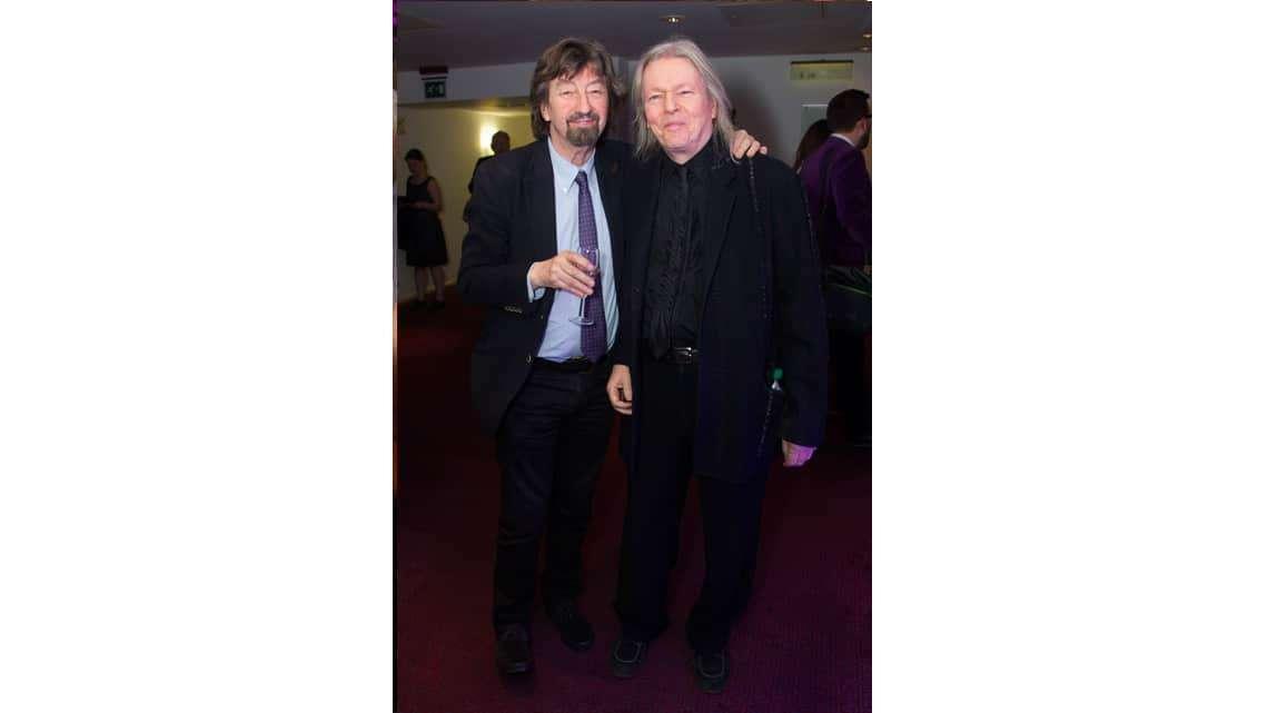 Trevor Nunn and Christopher Hampton at the opening night of Sunset Boulevard. Photo credit Dan Wooller