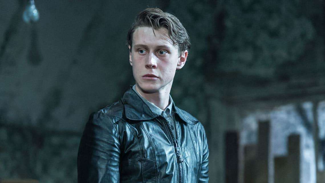 George MacKay (Mick) in The Caretaker at The Old Vic. Photo by Manuel Harlan | The Caretaker starring Timothy Spall at the Old Vic theatre