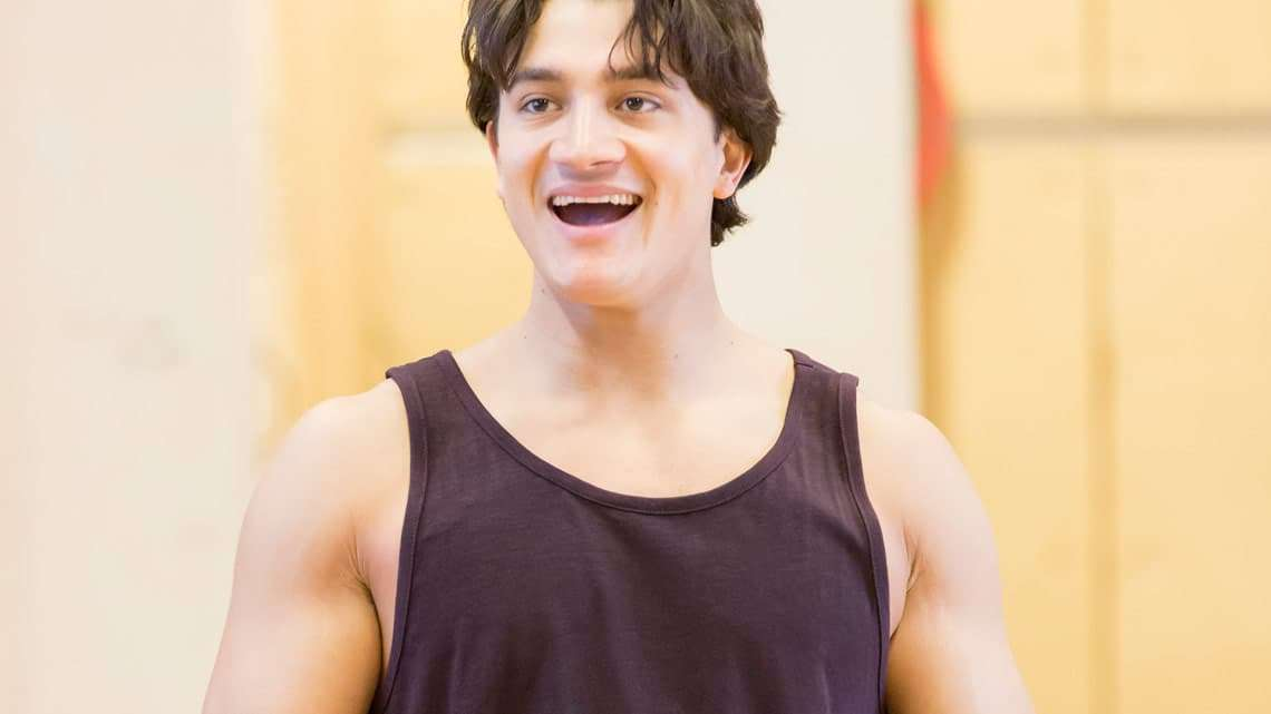 Disney's Aladdin in rehearsals Dean John-Wilson (Aladdin) Credit Johan Persson | Rehearsal images of Disney's Aladdin