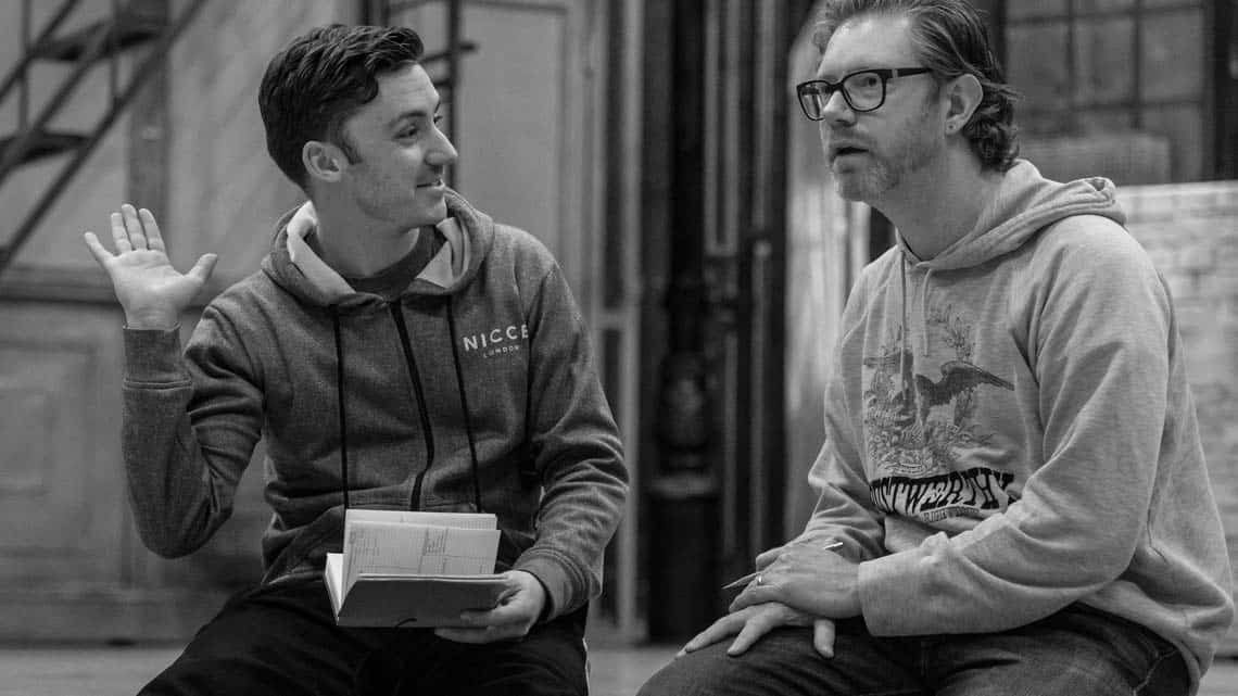 Drew McOnie in rehearsal for Jekyl and Hyde. Photo by Manuel Harlan