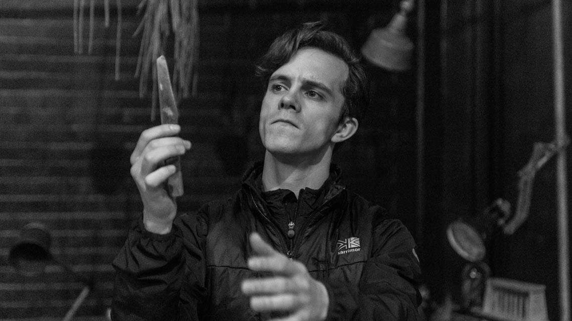Daniel Collins (Dr Jekyll) in Jekyll and Hyde at The Old Vic.  photo by Manuel Harlan | Jekyll & Hyde in rehearsal