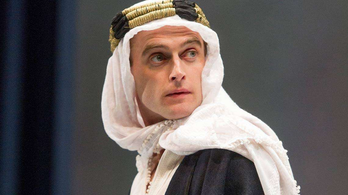 Jack Laskey (T.E.Lawrence) in Lawrence after Arabia at Hamsptead Theatre - credit Alastair Muir | In Pictures: Lawrence After Arabia