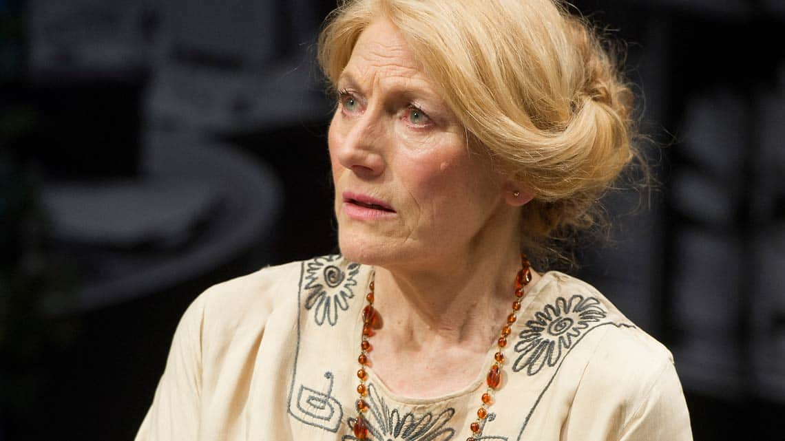 Geraldine James (Charlotte Shaw) in Lawrence After Arabia at Hampstead Theatre - credit Alastair Muir   In Pictures: Lawrence After Arabia
