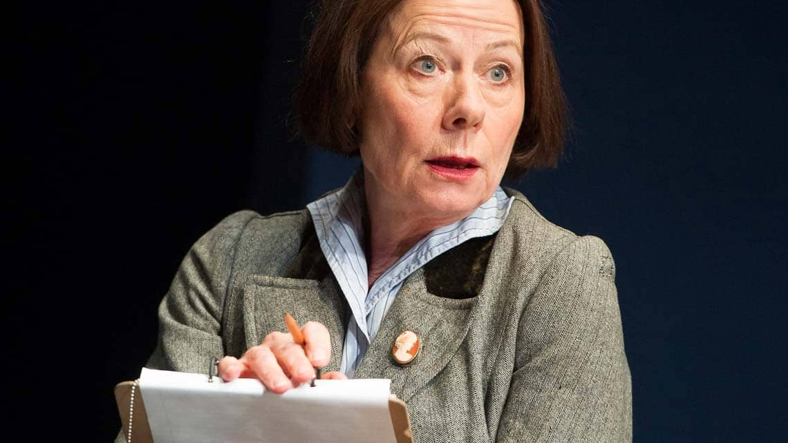 Rosalind March (Blanche Patch) in Lawrence After Arabia at Hampstead Theatre - credit Alastair Muir | In Pictures: Lawrence After Arabia