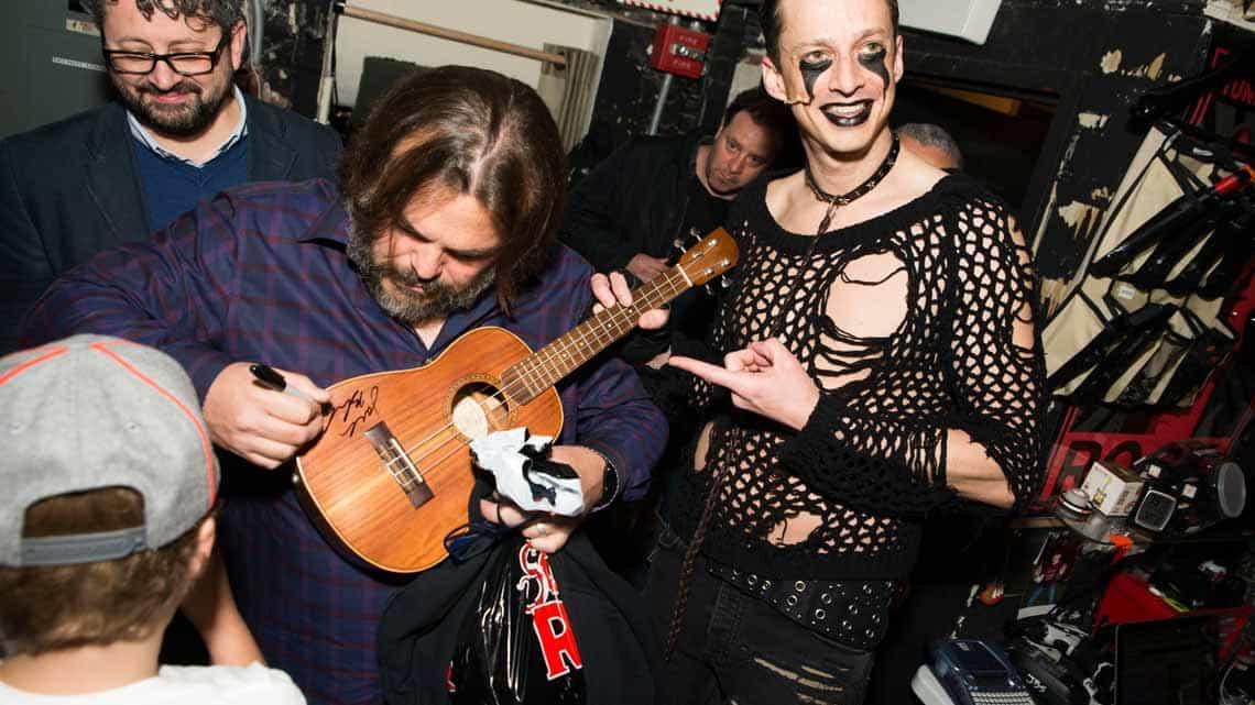 Jack Black at School of Rock - The Musical on Broadway | Jack Black and Paul Rudd visit School of Rock