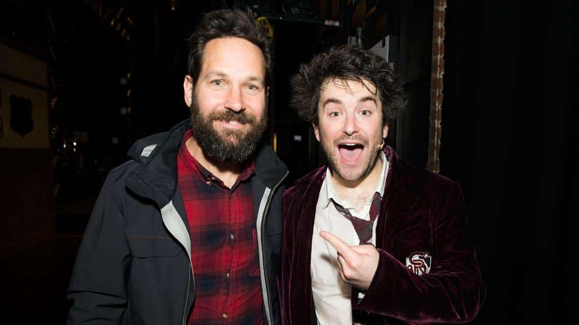 Paul Rudd at School of Rock - The Musical on Broadway | Jack Black and Paul Rudd visit School of Rock