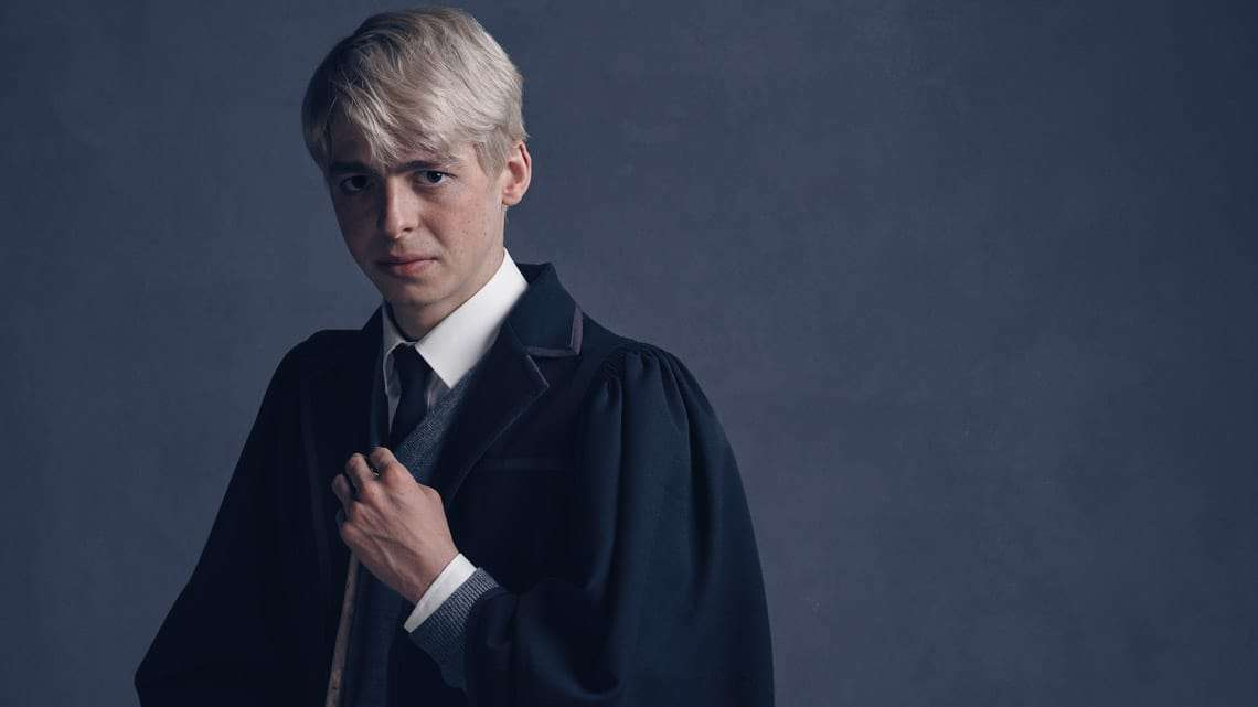 Scorpius Malfoy (Anthony Boyle) photo by Charlie Gray | Harry Potter and the Cursed Child: Meet the Malfoys