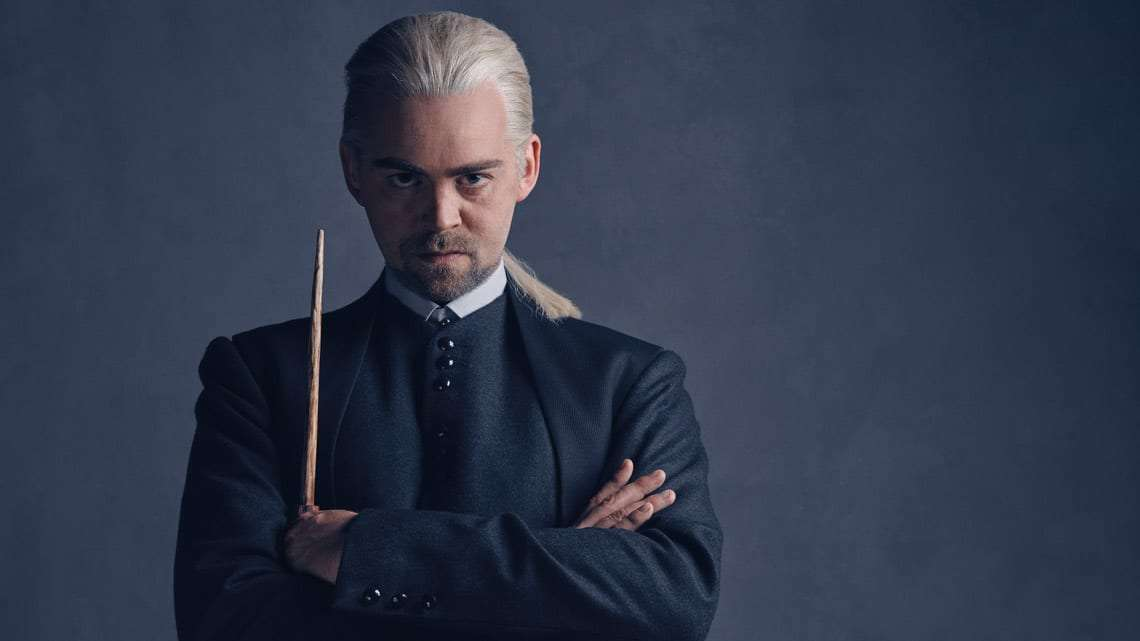 Draco Malfoy (Alex Price) photo by Charlie Gray | Harry Potter and the Cursed Child: Meet the Malfoys