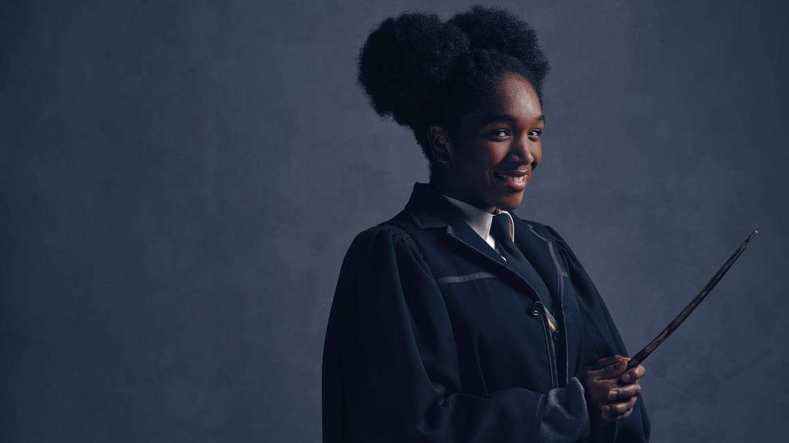 Rose Granger-Weasley (Cherrelle Skeete). Photo credit Charlie Gray | First Look: Ron Weasley, Hermione Granger and Rose Granger-Weasley