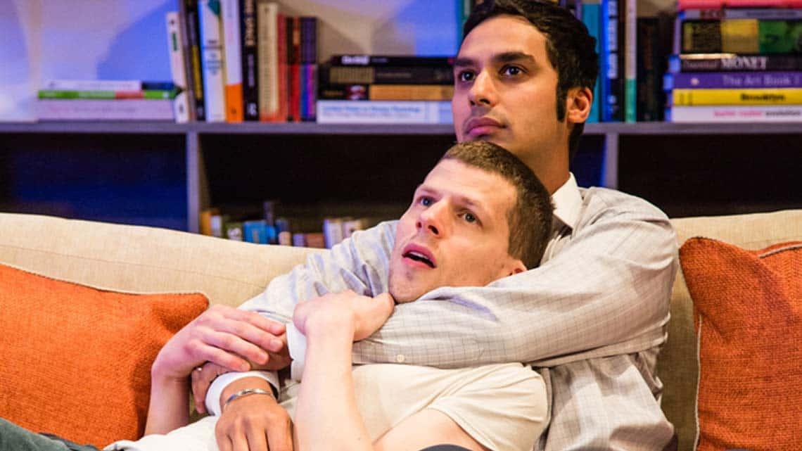 The Spoils (Jesse Eisenberg & Kunal Nayyar) Photo: Oliver Rosser | Reviews round-up: The Spoils at Trafalgar Studios