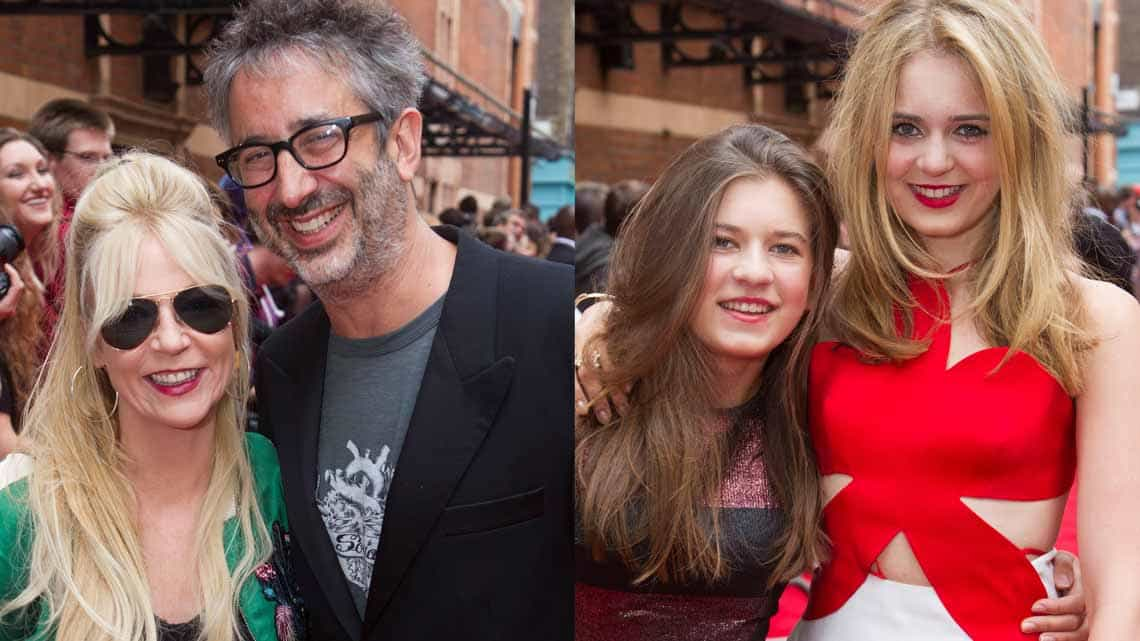 Morwenna Banks, David Baddiel, Bella Link & Grace Link at the Opening Gala of Harry Potter and the Cursed Child. Photo credit Dan Wooller    In pictures: Harry Potter and the Cursed Child gala performance