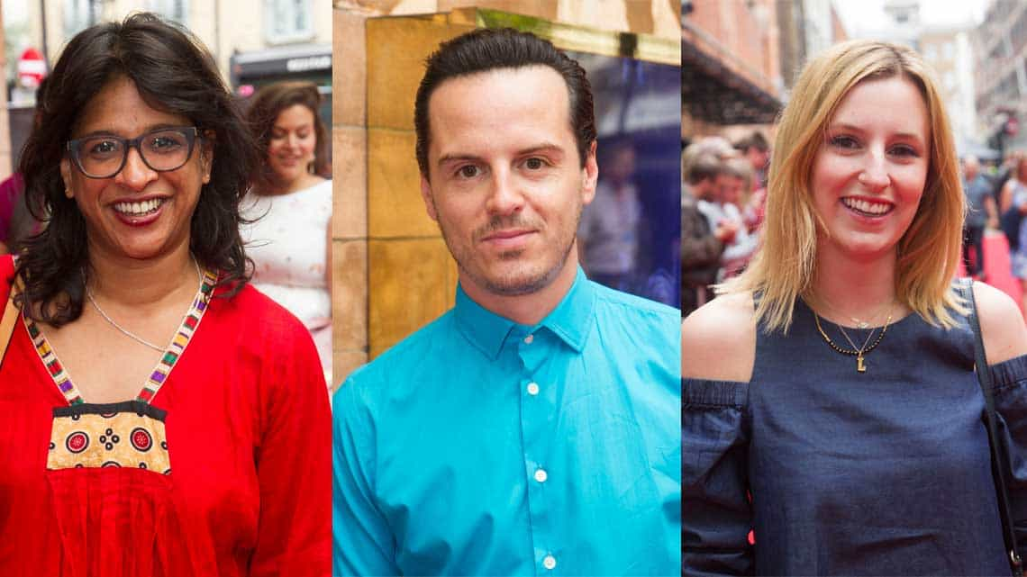 Indhu Rubasingham, Andrew Scott and Laura Carmichael at the Opening Gala of Harry Potter and the Cursed Child. Photo credit Dan Wooller   In pictures: Harry Potter and the Cursed Child gala performance