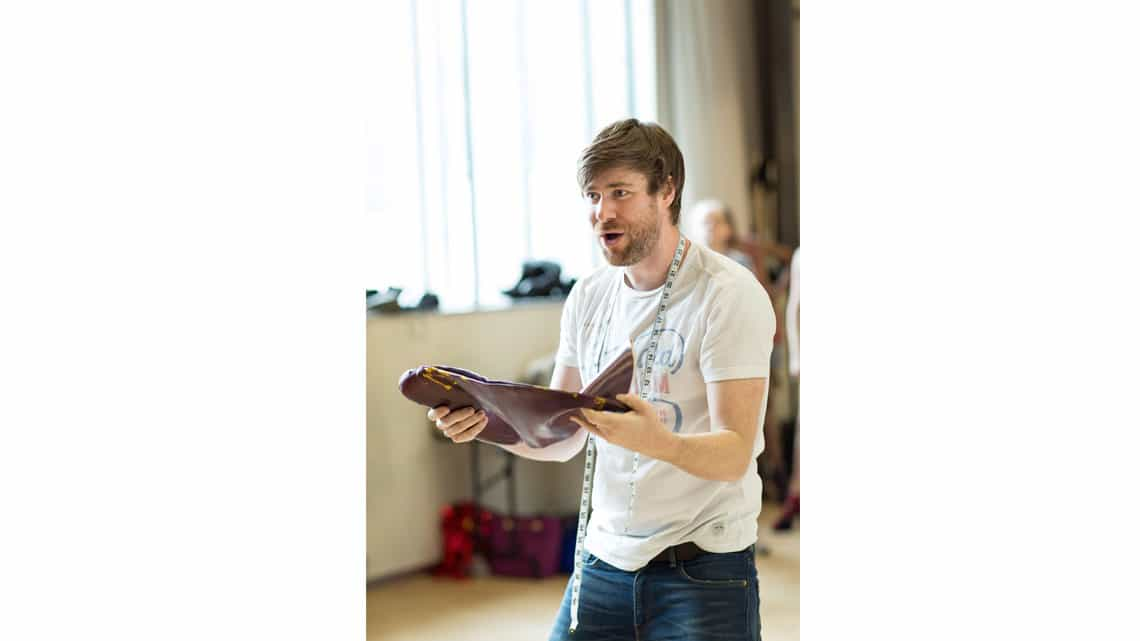 David Hunter (Charlie Price) Kinky Boots Rehearsal. Photo by Helen Maybanks (3) | In rehearsal: see the new cast of Kinky Boots