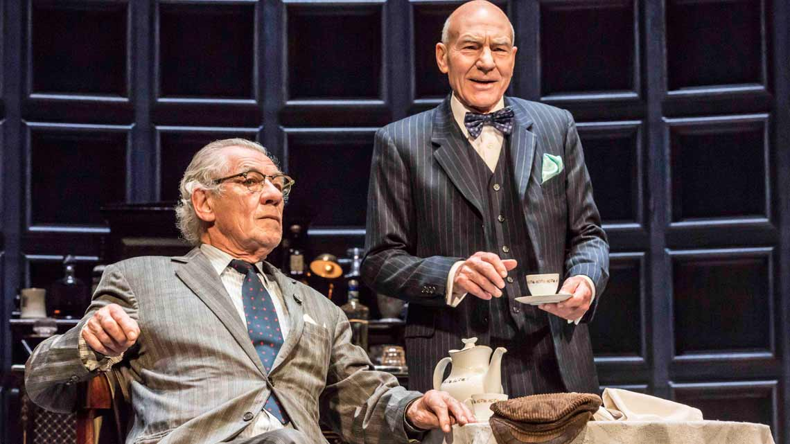 Ian McKellen as Spooner, Patrick Stewart as Hirst, in No Man's Land. Photo: Johan Persson | No Man's Land starring Patrick Stewart and Ian McKellen