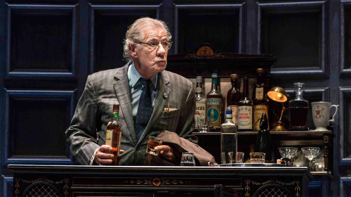 Ian McKellen as Spooner in No Man's Land. Photo: Johan Persson | No Man's Land starring Patrick Stewart and Ian McKellen