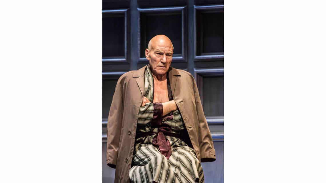 Patrick Stewart as Hirst in No Man's Land. Photo: Johan Persson | No Man's Land starring Patrick Stewart and Ian McKellen