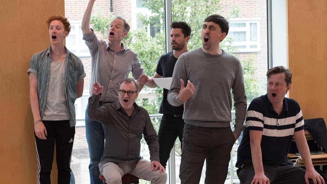 Rehearsals for The Libertine. Photo: Alastair Muir   In rehearsal: Dominic Cooper in The Libertine