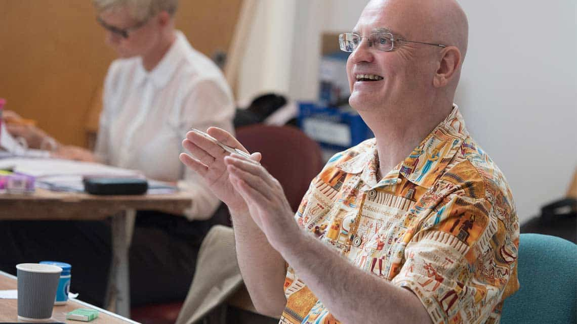 Director Terry Johnson in rehearsals for The Libertine. Photo: Alastair Muir   In rehearsal: Dominic Cooper in The Libertine