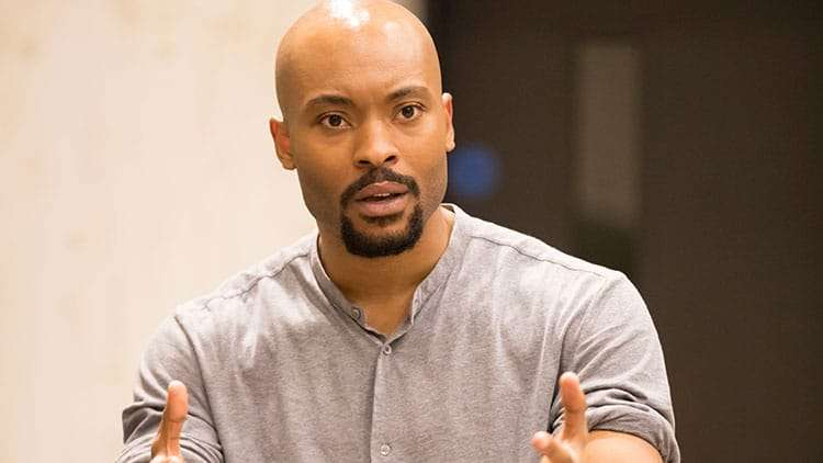 Arinzé Kene | One Night in Miami... | Photo: Johan Persson | In rehearsal: One Night in Miami… at Donmar Warehouse