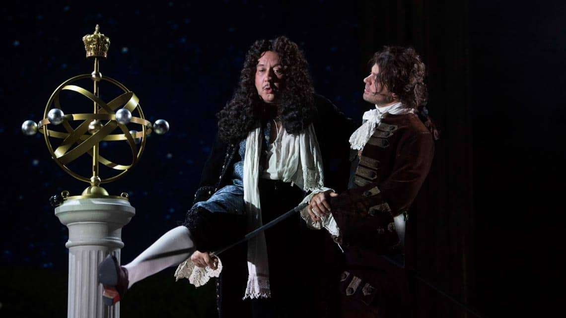 Mark Hadfield & Dominic Cooper in The Libertine. Photo: Alastair Muir | In Pictures: Dominic Cooper in The Libertine