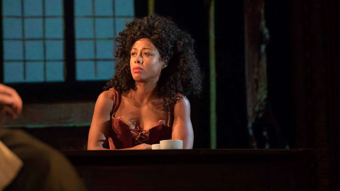 Nina Toussaint-White  in The Libertine. Photo: Alastair Muir | In Pictures: Dominic Cooper in The Libertine