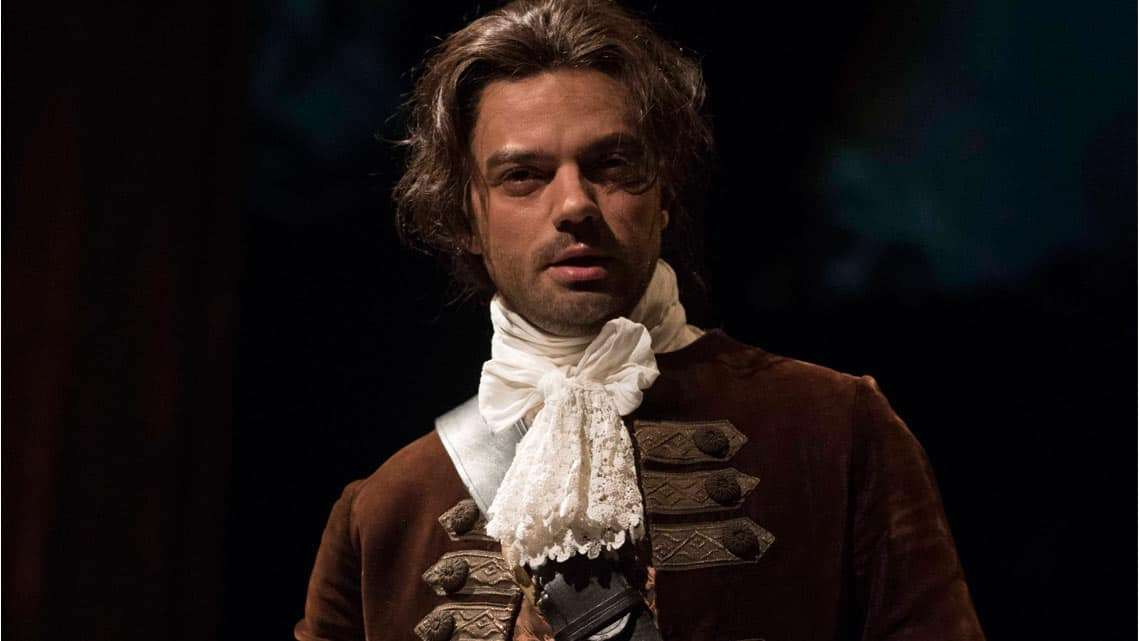 Dominic Cooper in The Libertine. Photo: Alastair Muir | The Libertine at the Theatre Royal Haymarket