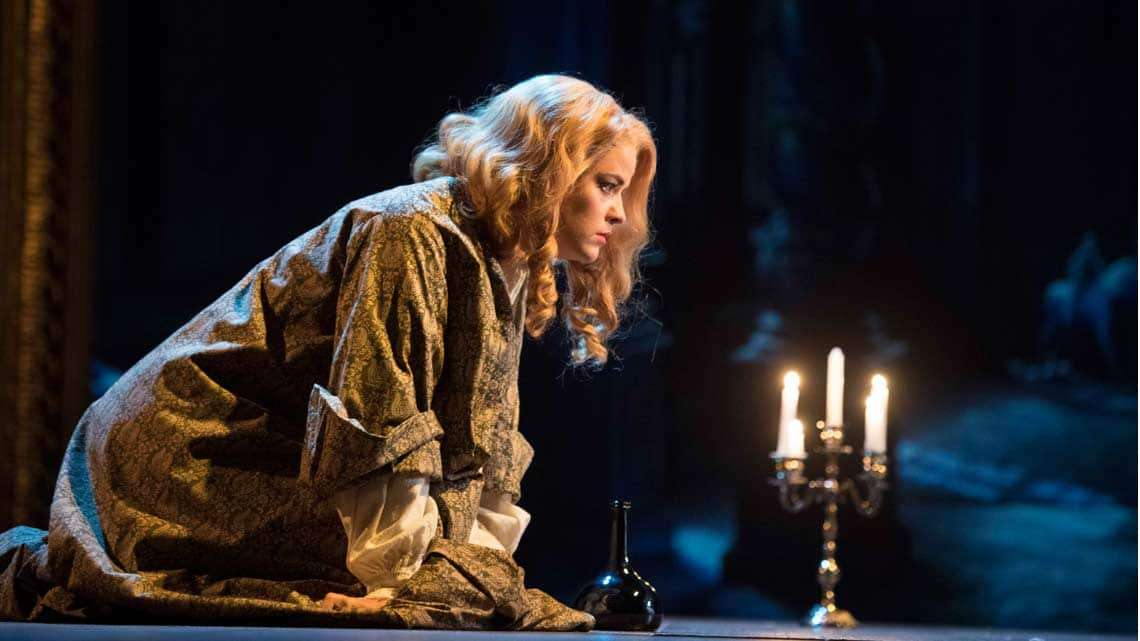 Alice Bailey Johnson in The Libertine. Photo: Alastair Muir | The Libertine at the Theatre Royal Haymarket