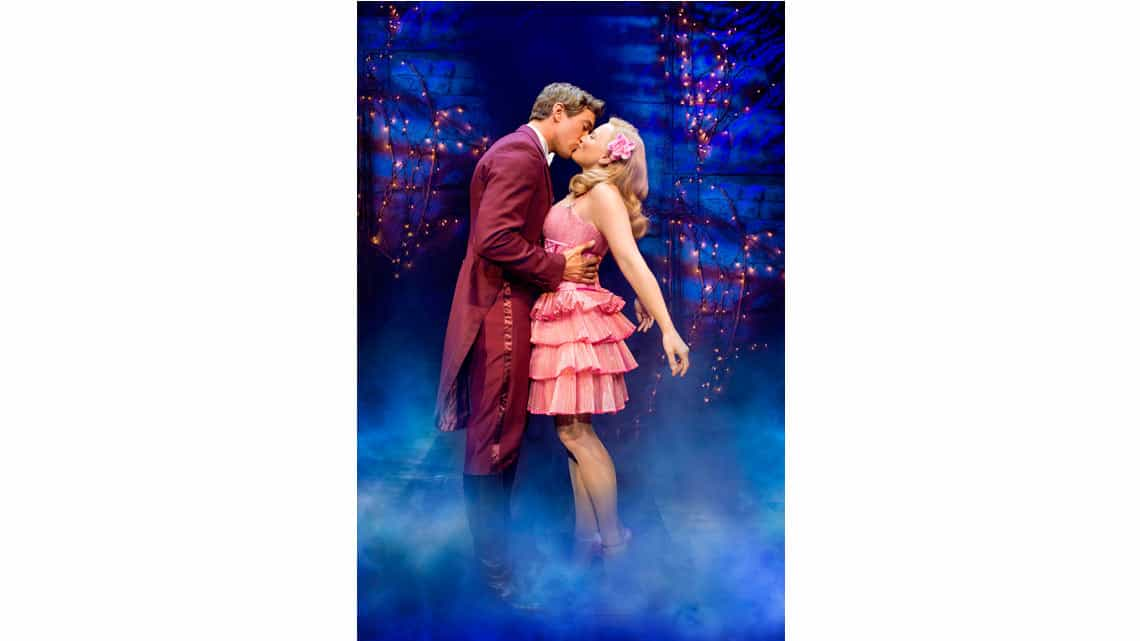 Oliver Savile (Fiyero) & Suzie Mathers (Glinda) Photo: Matt Crockett | In Pictures: Anita Dobson in Wicked