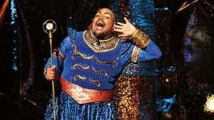 Trevor Dion Nichols as the Genie in Disney's Aladdin